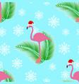 flamingo winter style seamless pattern vector image