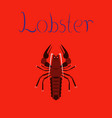 flat on background seafood lobster vector image vector image