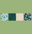 floral abstract seamless patterns design vector image vector image