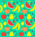 fruit icon seamless pattern for healthy eating vector image