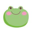 green face frog farm cartoon animal vector image