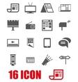 grey advertisement icon set vector image