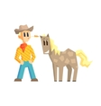 Guy And Dappled Horse vector image vector image