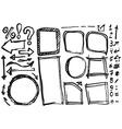 Hand drawn figures Elements banners symbols arrows vector image vector image