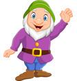 happy cartoon dwarf vector image vector image
