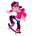 Happy skater boy vector image
