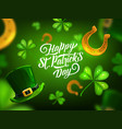 happy st patrick day greeting card poster vector image vector image