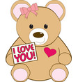 I Love You Bear vector image vector image
