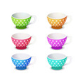 isometric tea coffee drink cup 3d realistic vector image