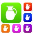 jug of milk set collection vector image vector image
