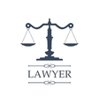 Lawyer icon of Justice scales emblem vector image vector image