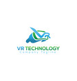 logo icon of virtual reality device vector image