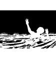 Man drowning vector image vector image