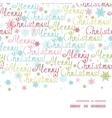 merry christmas text horizontal frame seamless vector image vector image