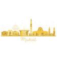 muscat oman city skyline golden silhouette vector image vector image
