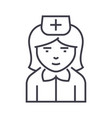 nurse sign line icon sign on vector image vector image