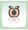 outline peach fruit icon Modern infographic logo vector image vector image
