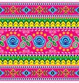 pakistani seamless pattern indian truck art vector image vector image