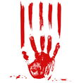 palm and blood vector image