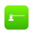 parking barrier icon digital green vector image vector image