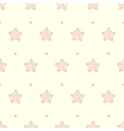 pastel seamless pattern with sea starfish vector image vector image