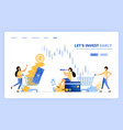people buy investment instruments in money vector image vector image