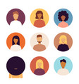 people portraits icons set vector image vector image