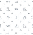 protective icons pattern seamless white background vector image vector image