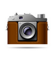 retro photo camera icon isolated on white vector image vector image