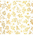 seamless background gold foil leaves vector image vector image