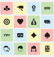 set 16 editable business icons includes vector image