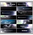 Set of modern banners Electric lighting effect vector image vector image