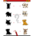 shadow game with dogs vector image vector image