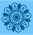 snowflake icon in flat style winter symbol vector image
