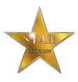star dressing room vector image vector image