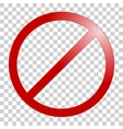 Stop sign No sign template vector image