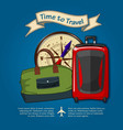 time to travel concept for travel and vacations vector image vector image