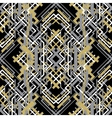 Trendy linear style golden black design seamless vector image vector image