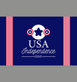 usa independence day banner with flag elements vector image vector image