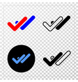 valid ticks eps icon with contour version vector image vector image