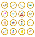 virus cartoon icon circle vector image vector image