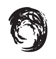 wave circle isolated background black and white vector image vector image
