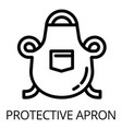 welder protective apron icon outline style vector image
