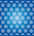 winter seamless pattern from snowflakes vector image vector image