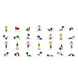 woman practicing yoga 25 poses for your design vector image