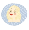 young girl face with makeup blonde hair vector image
