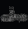 your business merchant account text background vector image vector image