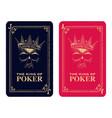 skull poker card vector image