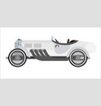 old sport car or vintage retro racing collector vector image