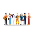 a group different professions flat design vector image